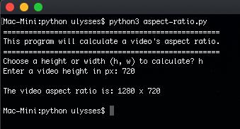 Python: 16:9 Aspect Ratio
