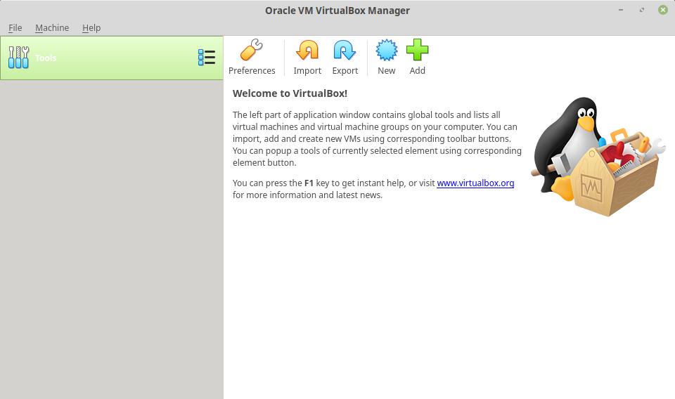 VirtualBox 6 in Mint 19