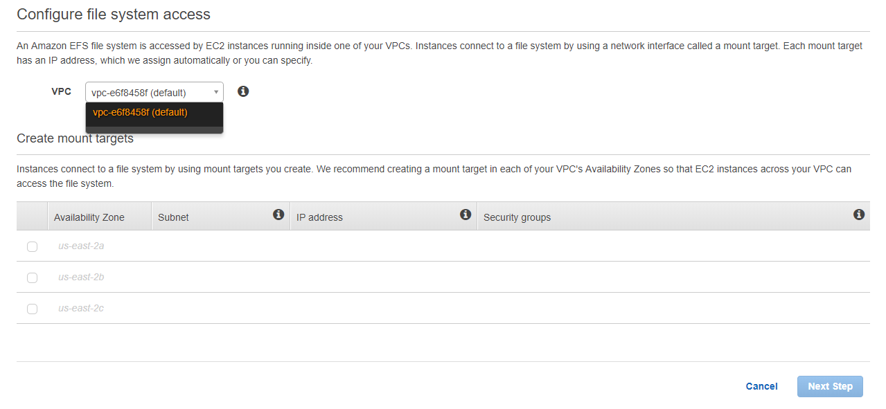 Migrate EFS to another VPC