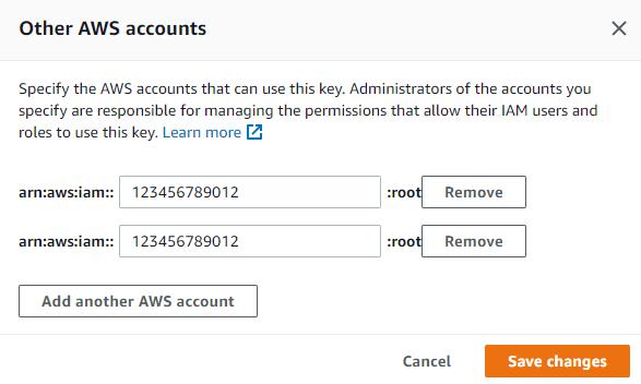 Cross Account KMS keys